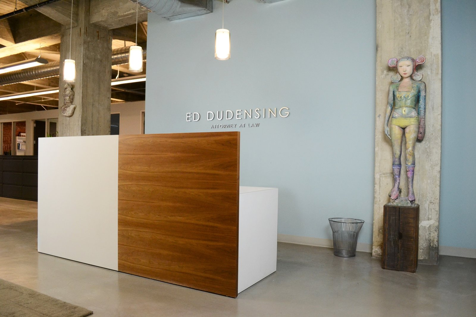 Reception Desk, Modern Law Firm By Jill Dudensing Lifestyle + Design Photo  3 Of 9