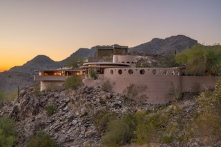 Located in Phoenix, Arizona, the Norman Lykes Residence is one of 14 circular homes by the iconic architect.