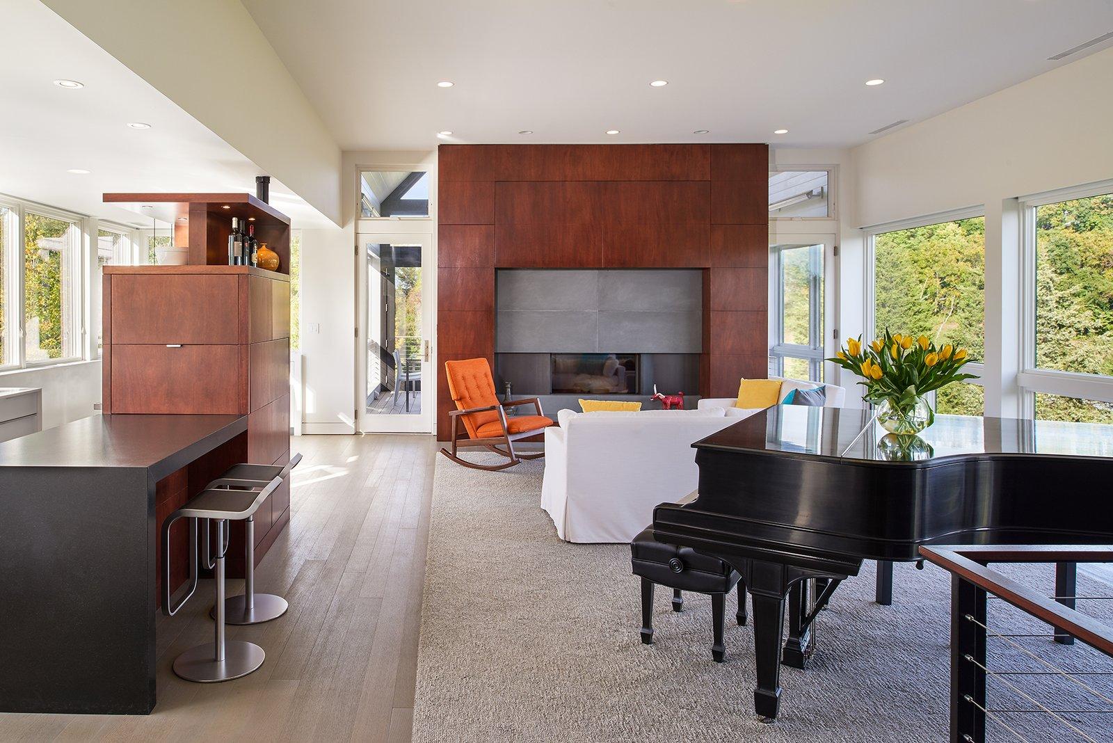 Modern Farmhouse wiedemann architects living room