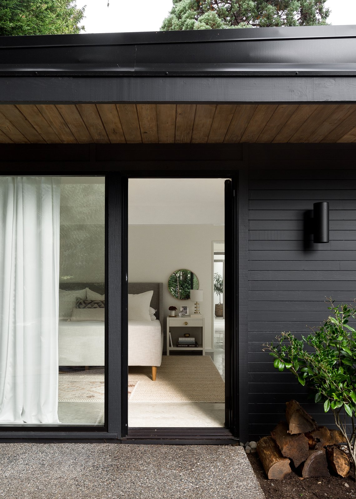 Doors, Sliding Door Type, And Exterior Generous Overhangs And Period  Lighting Speak To The