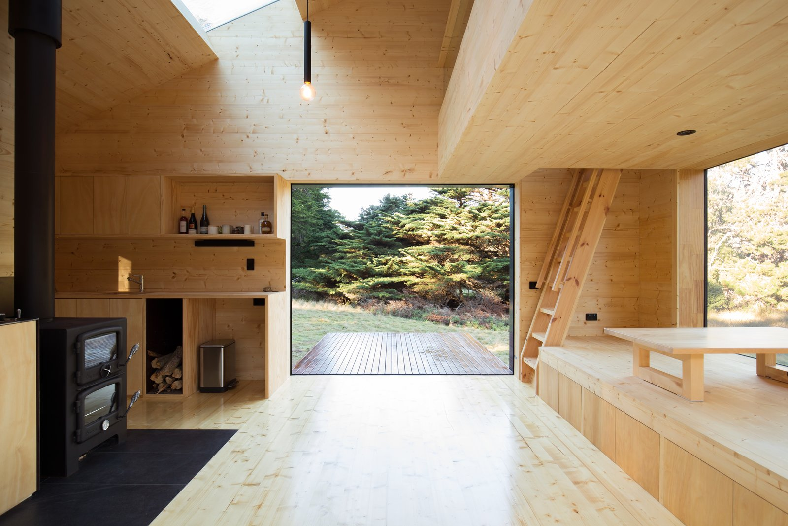 A Secluded Off Grid Cabin Echoes Stunning Minimalist
