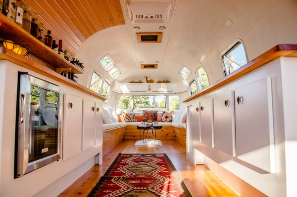 Wilson transformed the interior of this 1974 airstream so it could be used for a variety of purposes, such as a dressing room for Iggy Pop and Beck during the Project Pabst Music Festival in Portland, Oregon.