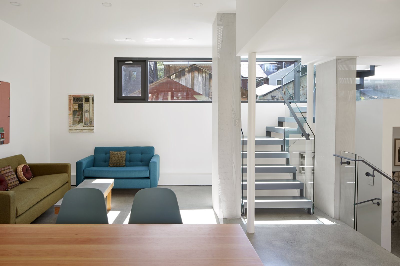 College Laneway House living room