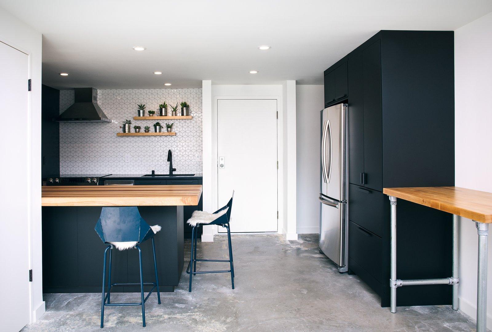 Mission Loft kitchen after