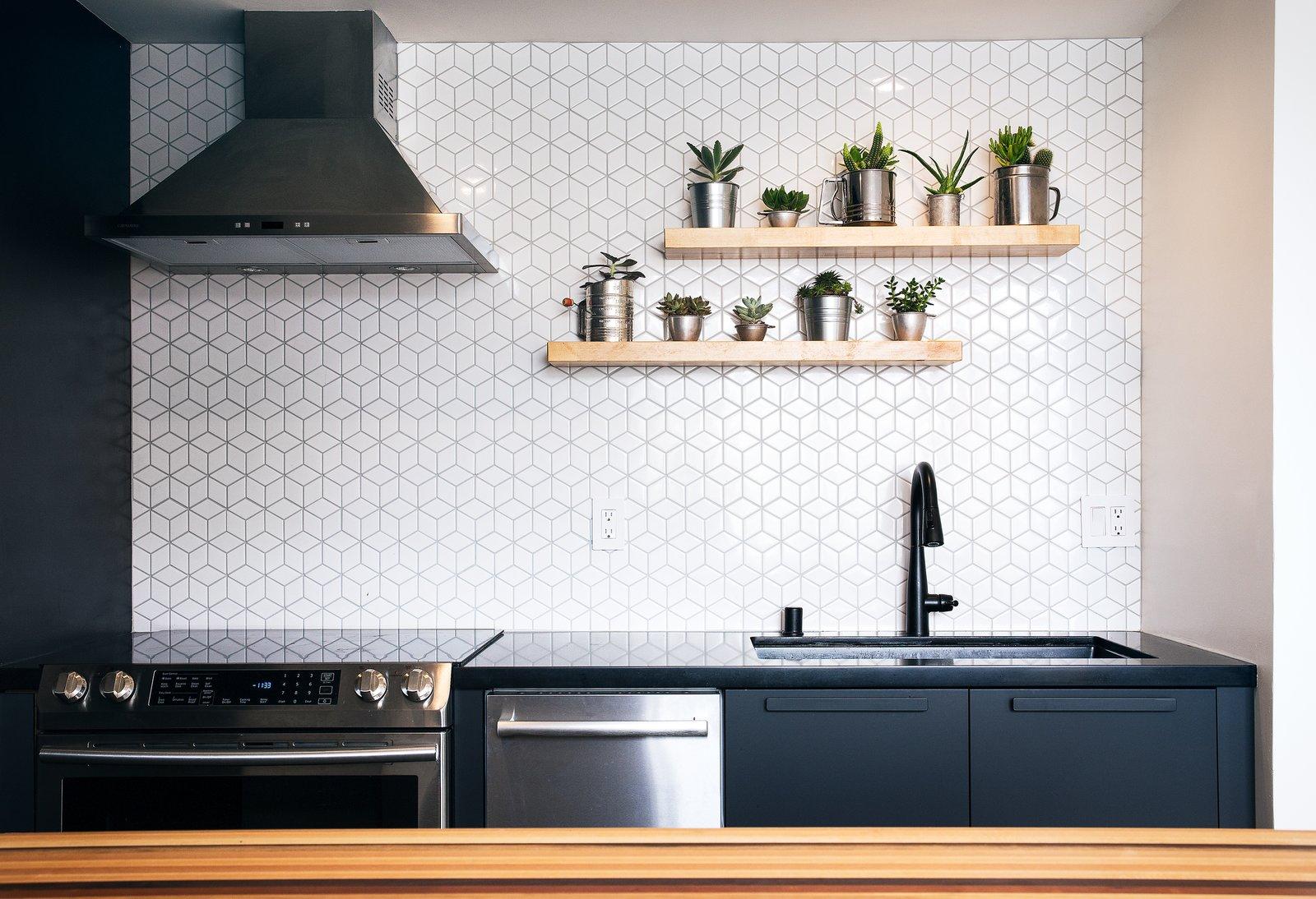 Mission Loft kitchen backsplash