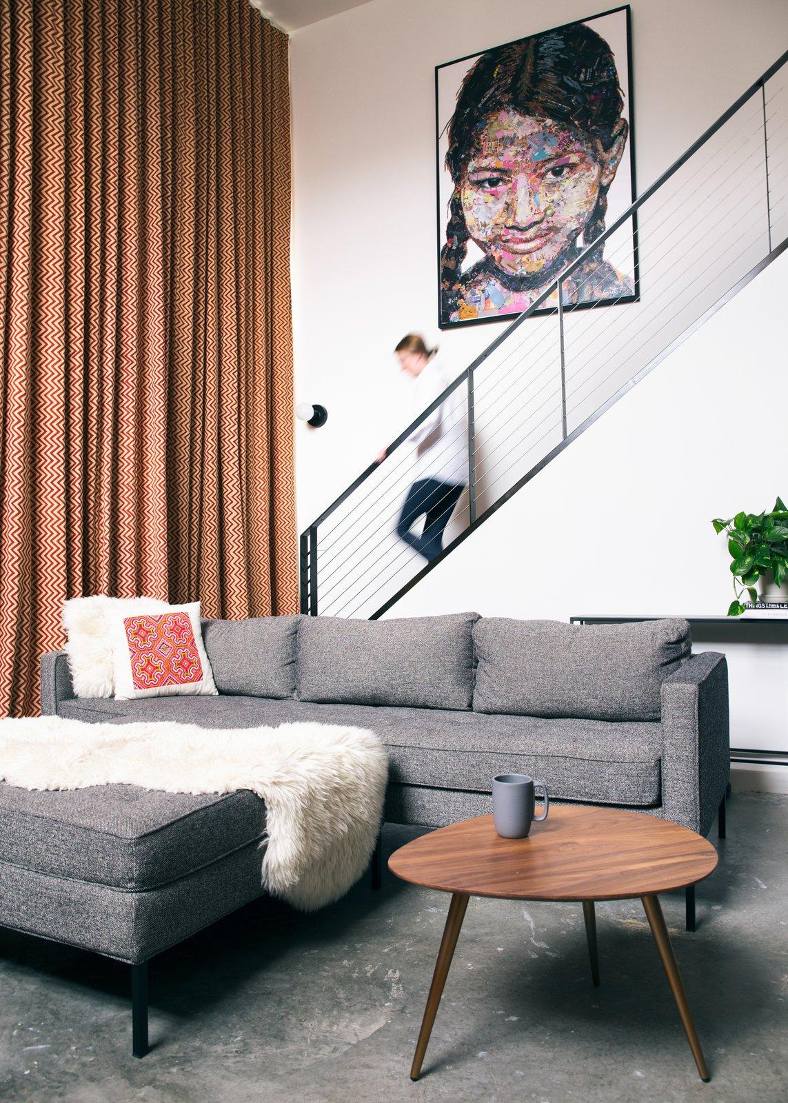 Mission Loft living room after