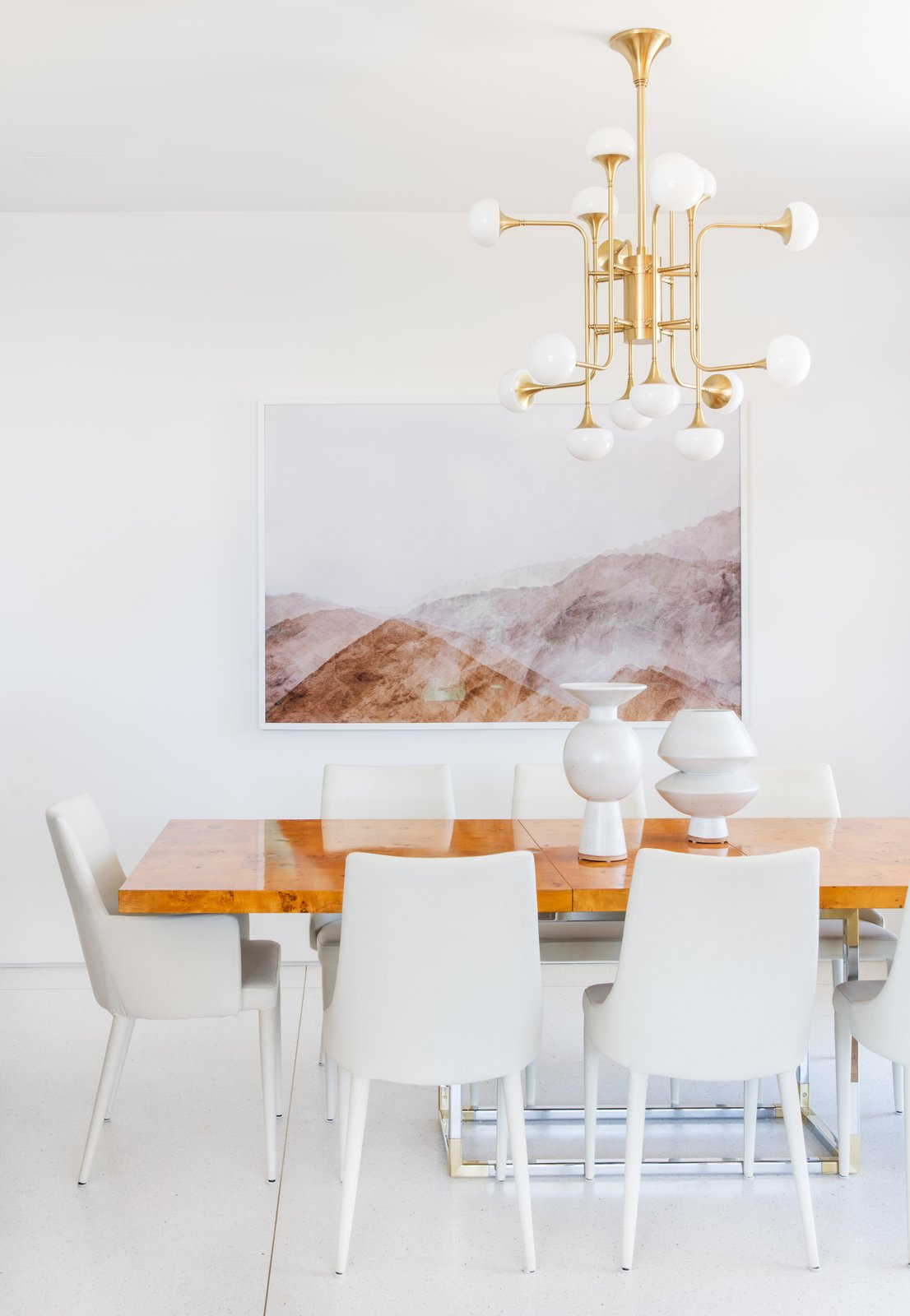 After: Mandy Moore midcentury home dining room