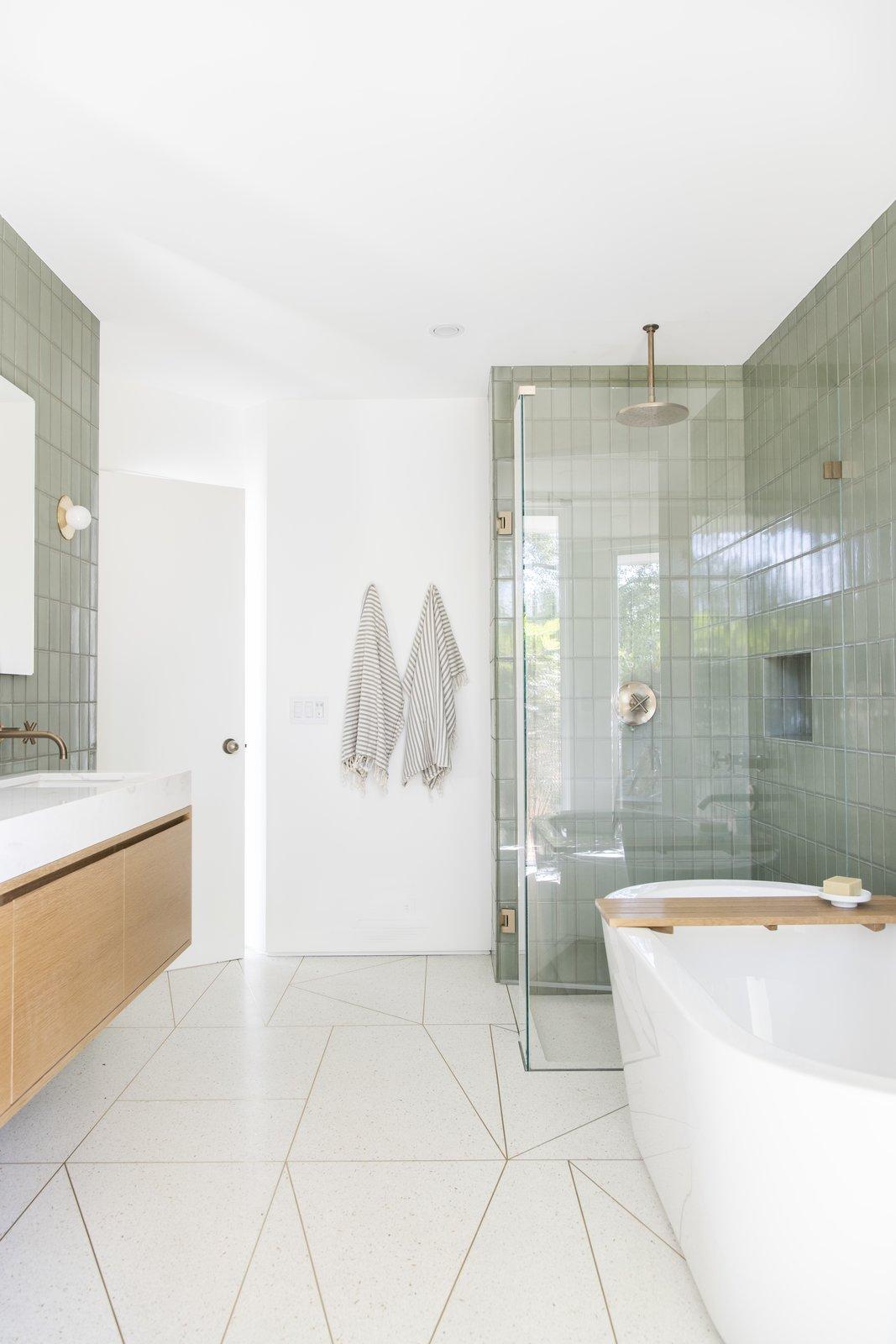 After: Mandy Moore midcentury home bathroom