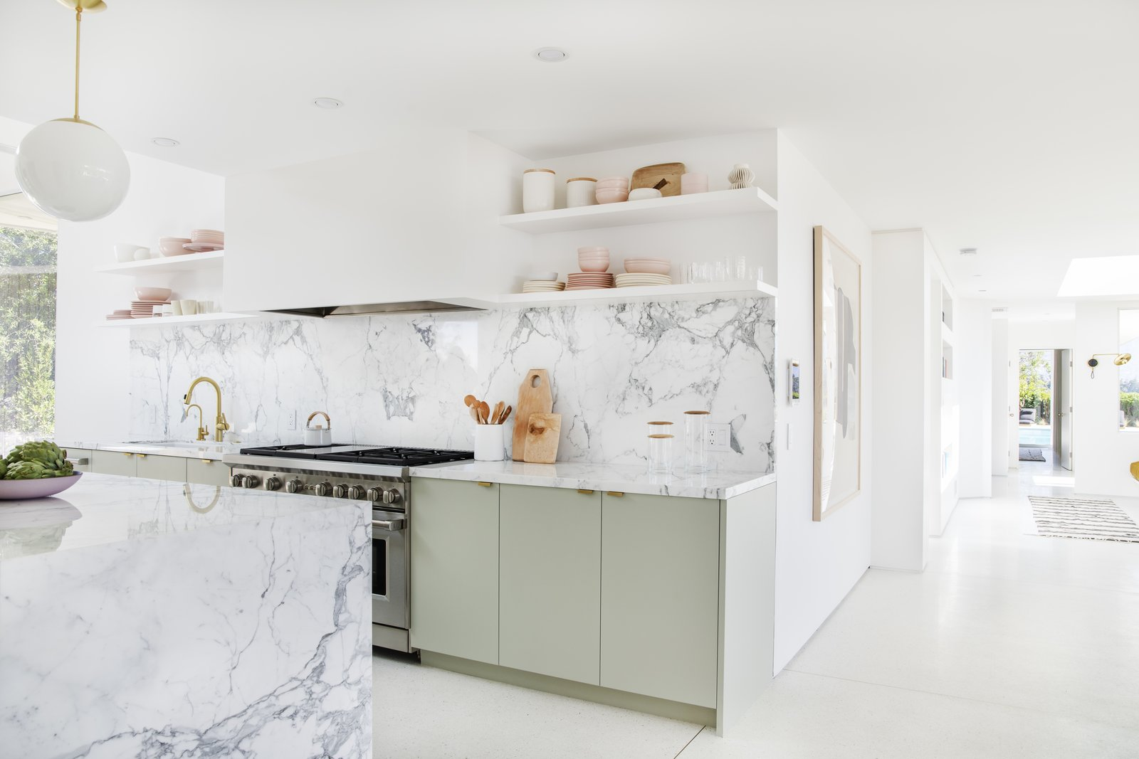 After: Mandy Moore midcentury home kitchen
