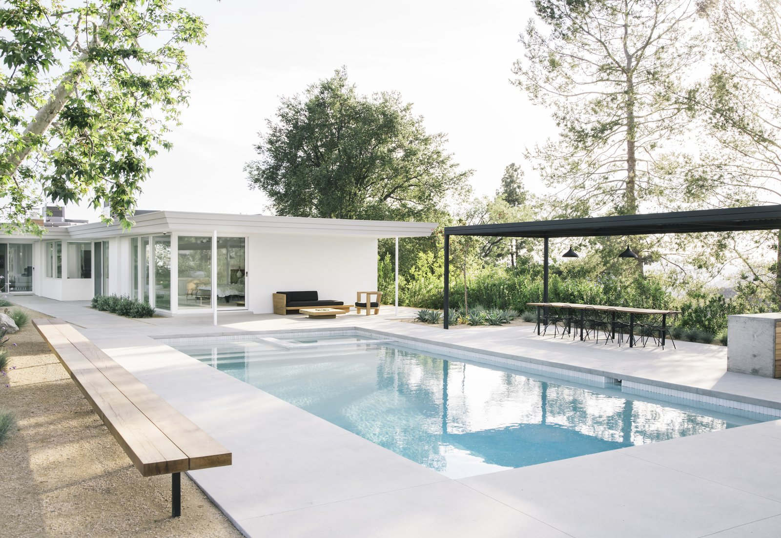 After: Mandy Moore midcentury home pool