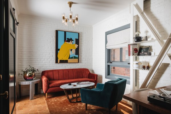 The design team sought to make rooms feel more like apartments, and so included reading nooks and hangout spots throughout, mixing jewel-toned furnishings with vintage finds and rock-and-roll ephemera.