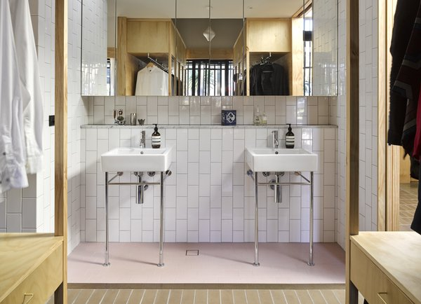 """""""All bathrooms are 'deconstructed' into a series of wet area alcoves,"""" say the architects."""