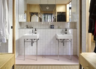 """All bathrooms are 'deconstructed' into a series of wet area alcoves,"" say the architects."