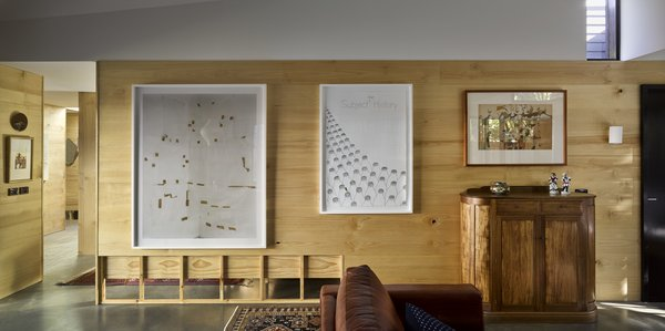 The home is also designed to showcase the owners' art collection.