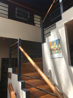 """""""The existing staircase felt very Memphis,"""" say the designers."""