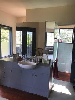 The in-room vanity was looking dated before.