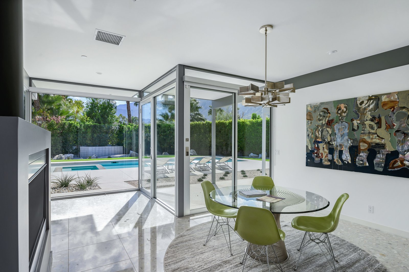 Donald Wexler Steel and Glass 2015 House Dining Room