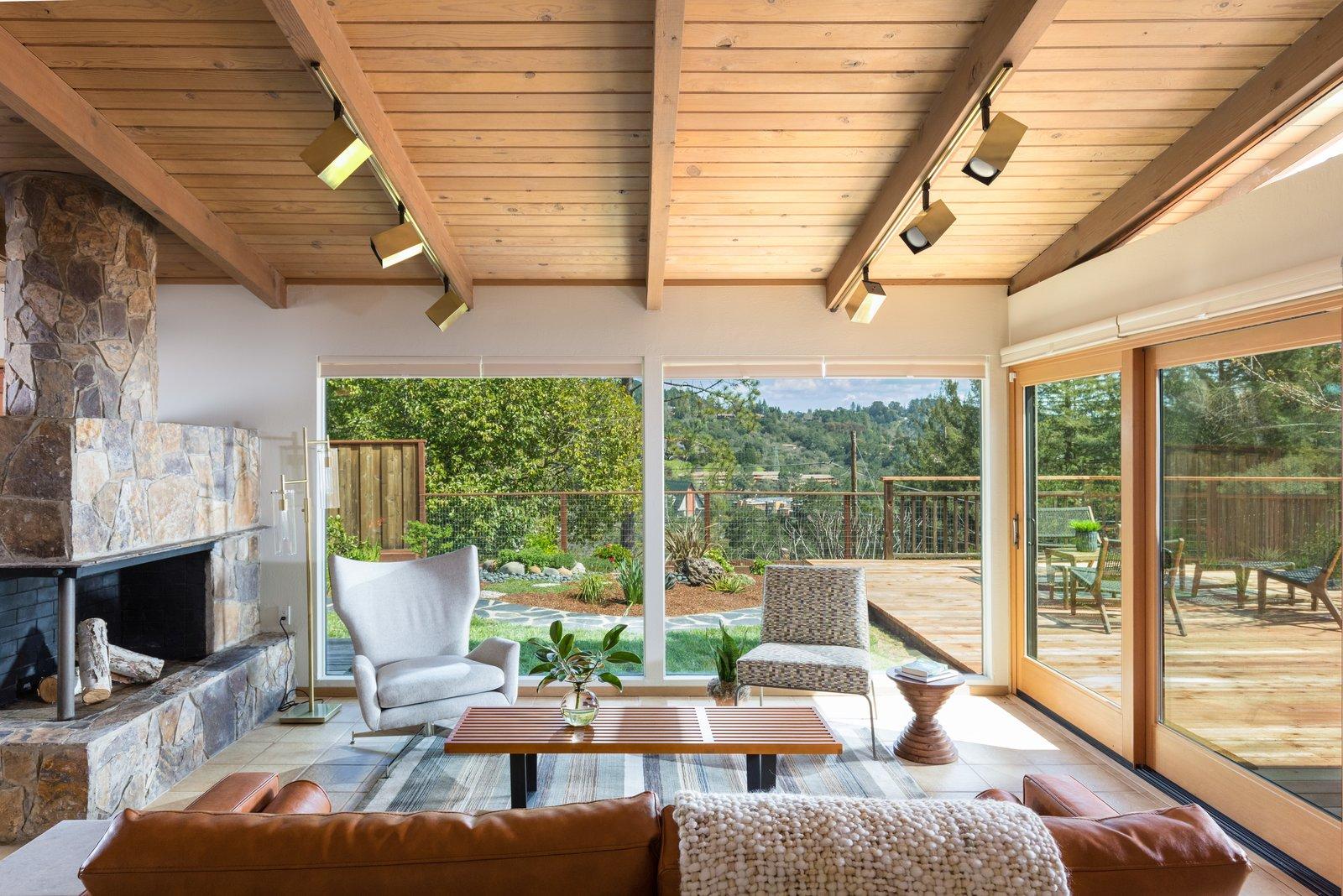 Orinda Midcentury Home living room