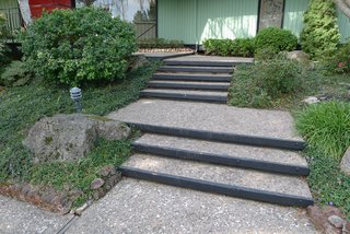 Before: The front stairs needed an update.