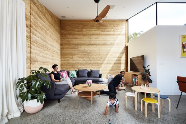 """""""Materials and details were chosen and developed for what they can offer: solar heat radiating from walls, natural ventilation to feel the breeze, timber posts you can lean against, and benches you can jump on,"""" said Welsch."""