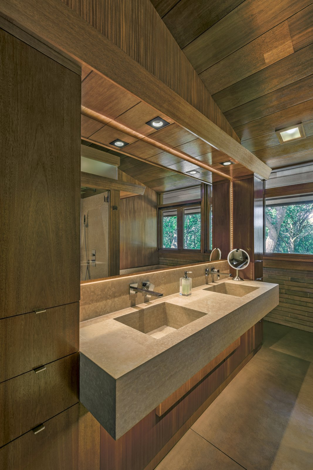 After: Fredrick House by Eifler and Associates Architects Master Bathroom