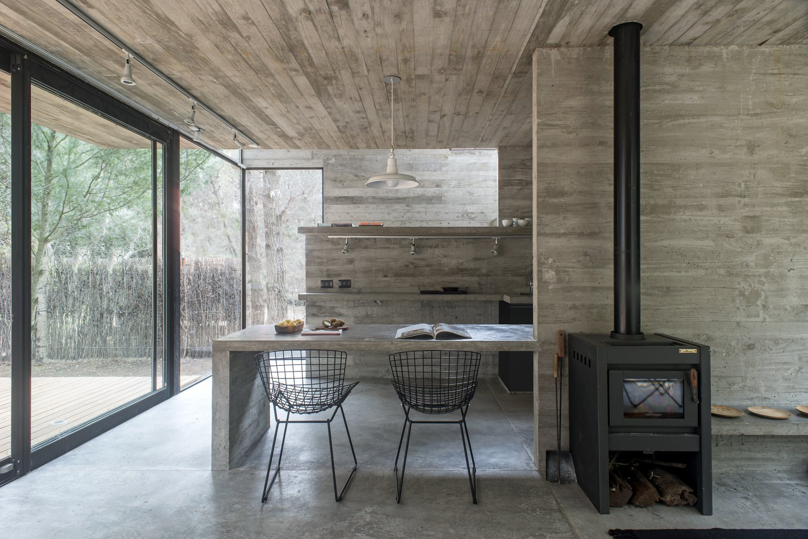 H3 House by Luciano Kruk Dining Room