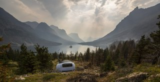 "The Ecocapsule has a steel frame, a fiberglass body, and high-quality polyurethane foam insulation, which helps it ""achieve a performance almost at the level of a passive house,"" says the company."