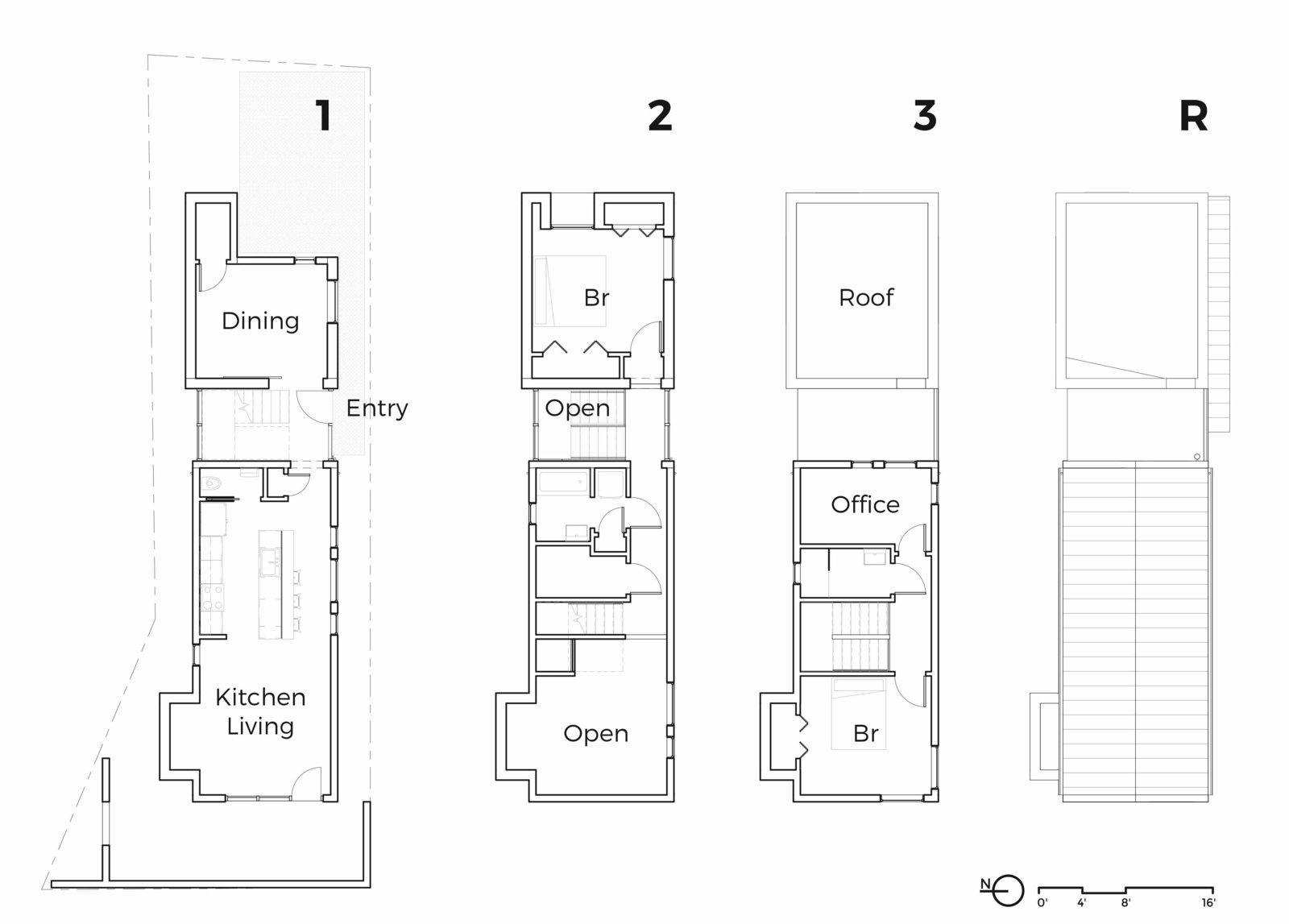 A Mews House by Alex Wu Architect Floorplan