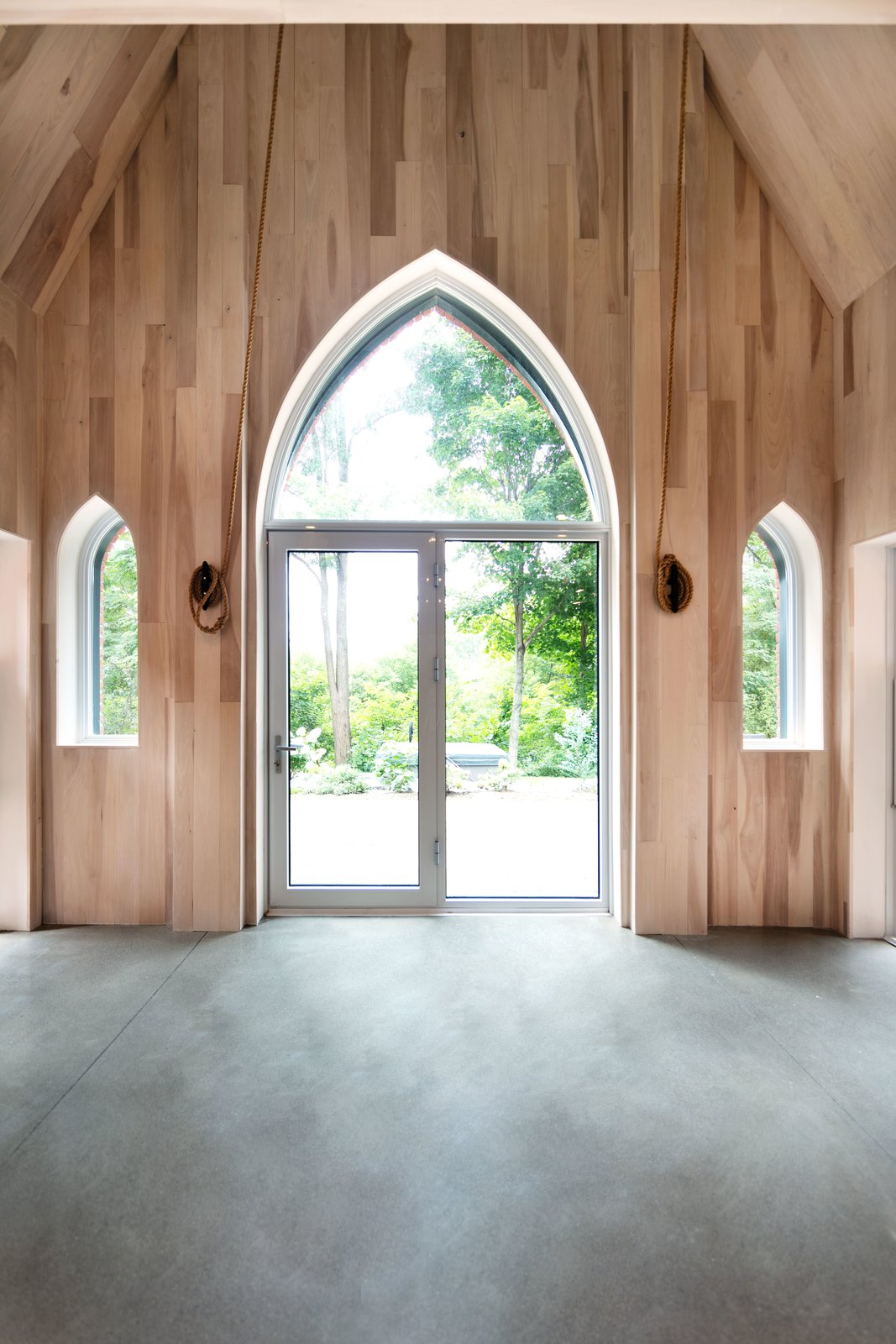 The Church House by DP Espace Design  Back Door After