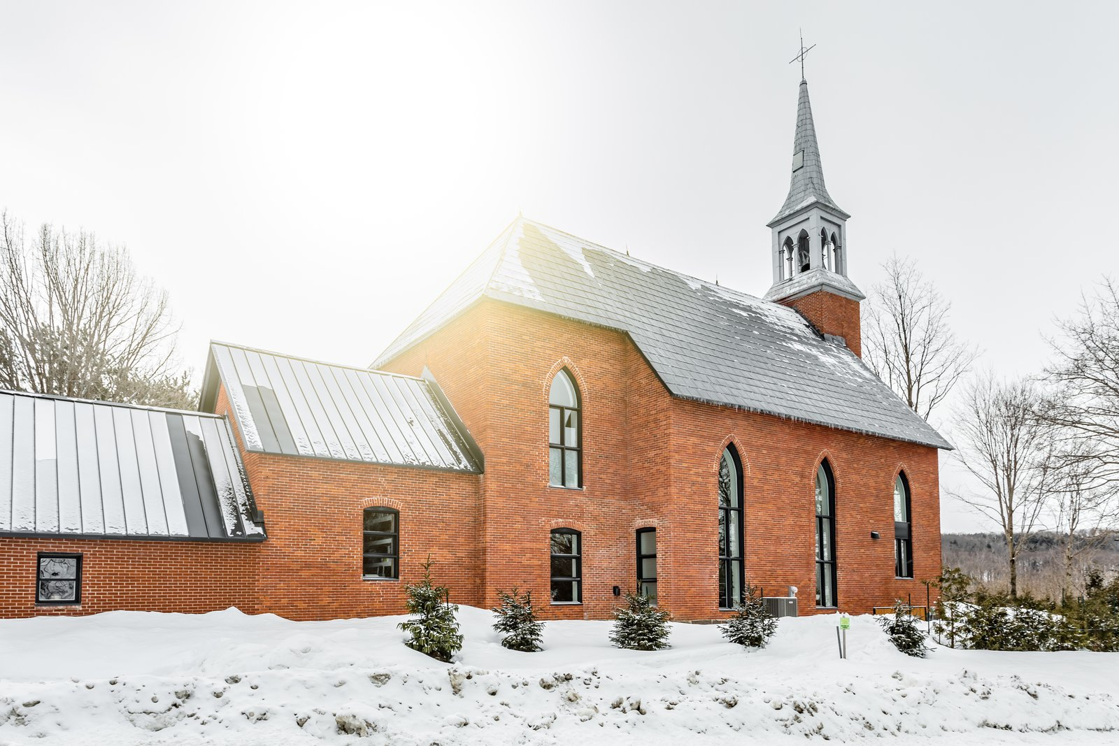 Before & After: A Brick Church in Quebec Becomes a Resonant Home