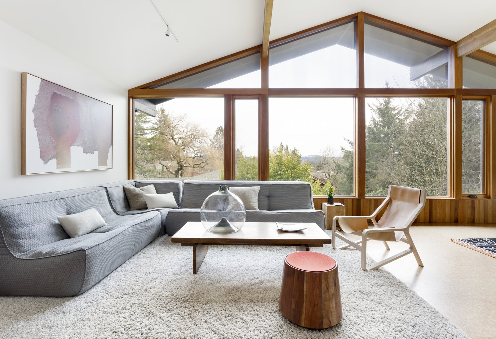 Portland SW Hills Mid Century Hideaway by Fieldwork Architecture and Design and Annie Wise Design Living Room After