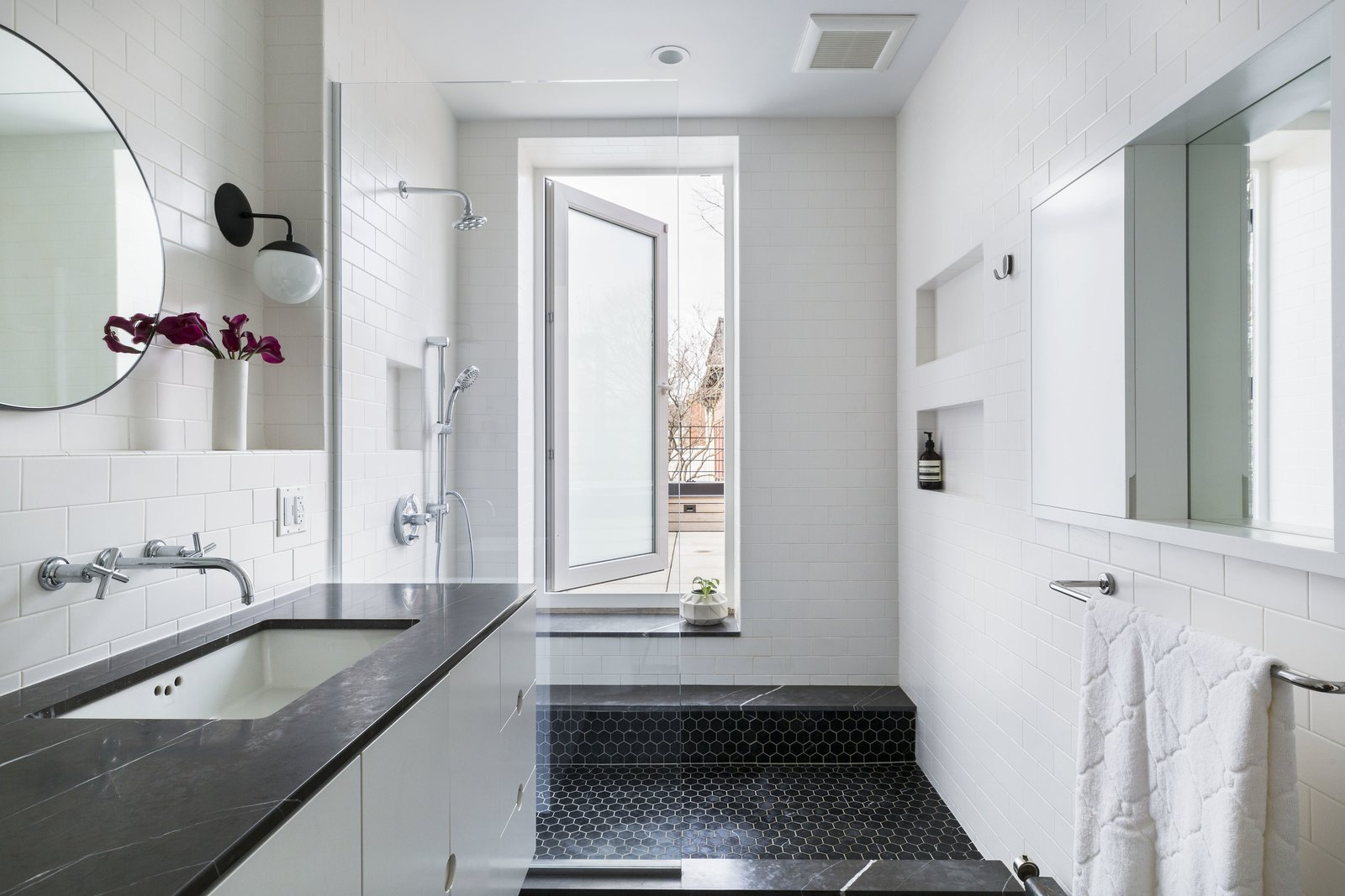 Clinton Hill Brownstone by Urban Pioneering Architecture Bathroom