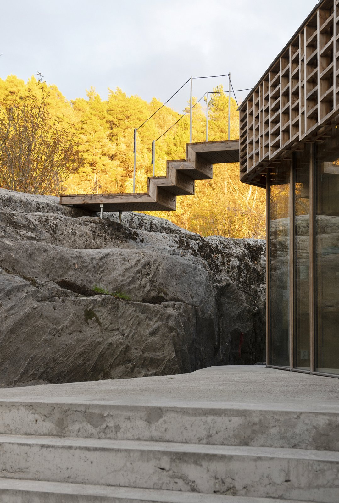 House on an Island by Atelier Oslo Exterior Stairs