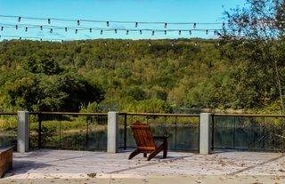 The Narrowsburg Observation Deck overlooks the Big Eddy and is located on Main Street.