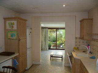 This door in the existing extension provided the only access or view to the rear garden.