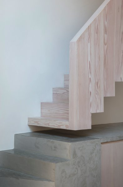 """""""The concrete then carries on to form a work surface and kitchen countertop,"""" said Marway."""