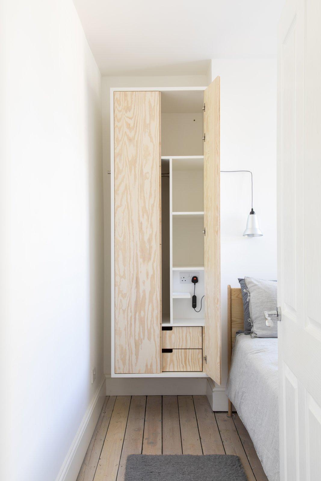 Elephant & Castle Maisonette Refurbishement by Atelier Baulier Bedroom Storage