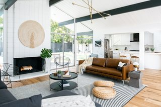 "For this Eichler remodel, the objective was to respect the original bones with more thoughtful updates than what had come before. ""Our goal was to design a beautiful mix of finishes that respected the timeless design intention of Eichler homes,"" say Sommer and Costello. ""Rather than focus purely on historical renovation, we wanted to update the finishes and layout to ensure it lives on for the next generation."""
