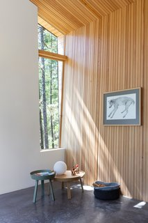 "A more narrow window focuses the eye on tree trunks, creating an ""abstracted view of the landscape,"" says the firm."