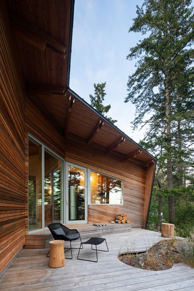 The curves of the deck follow the contour of the land.
