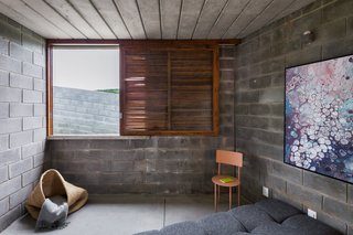 "Concrete blocks are ""very cheap and easy to build with in these small geometries,"" says João Paulo."