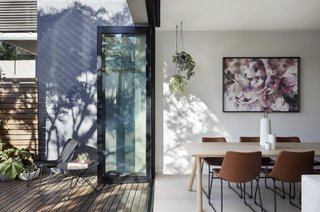 Cecilia Yuan, principal at Blank Canvas Architects, and her husband bought this Victorian-style abode in Port Melbourne, Australia, for its heritage charm. So, during a renovation that re-configured wasted space, like moving the bathroom to create a larger dining area that mingles a Muuto Split table with Phoenix chairs and a marble-wrapped island, she also saw an opportunity to replace such features as deteriorating iron lacework.