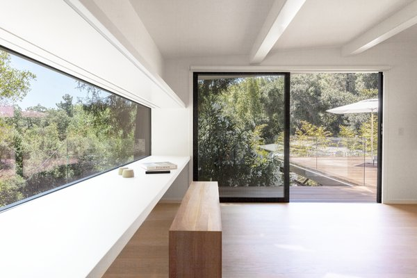 A new sliding door offers a streamlined black frame for the view outside.
