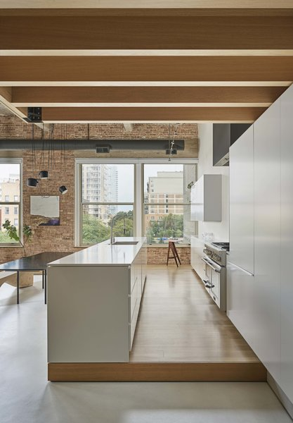 Elevating the kitchen on the platform also gives it a fantastic vantage point over Michigan Avenue.