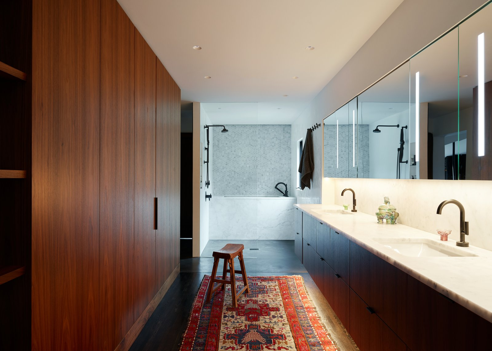 Past Present House by chadbourne + doss architects Bathroom