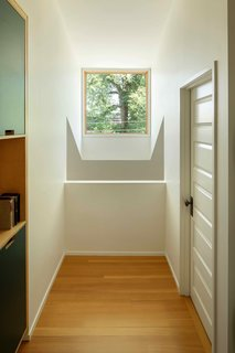 A view of the dormer from the upper level.