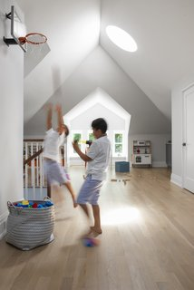 The team kept the skylights, and the third-floor space is primarily used as a playroom.