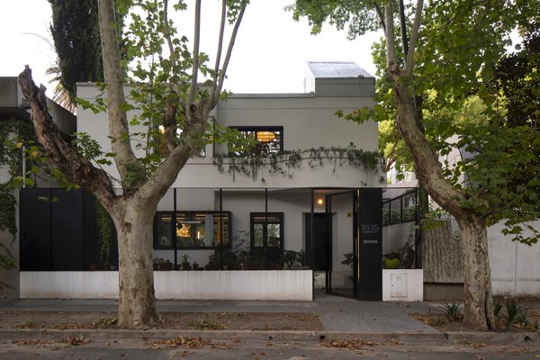 The facade was refreshed and received crisp, black metal accents.