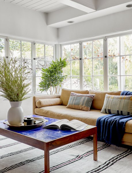 """The Curved Back sofa is from Lawson-Fenning. """"It's the most comfortable sofa,"""" says Zachary. """"I have one, too."""""""