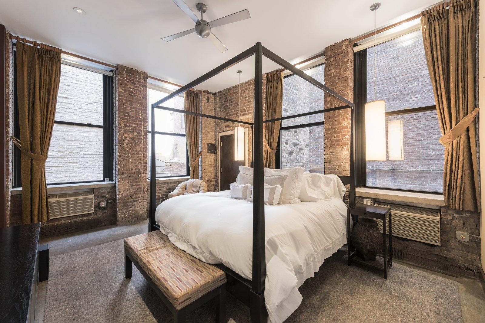 Before: Spears Building Loft master bedroom